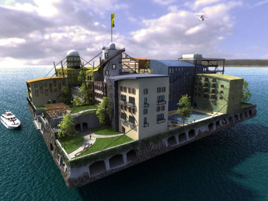 Paypal Founder's Futuristic Floating Island City