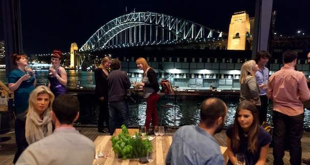 An image of the Bar at the End of the Wharf's view over the Sydney Harbour Bridge