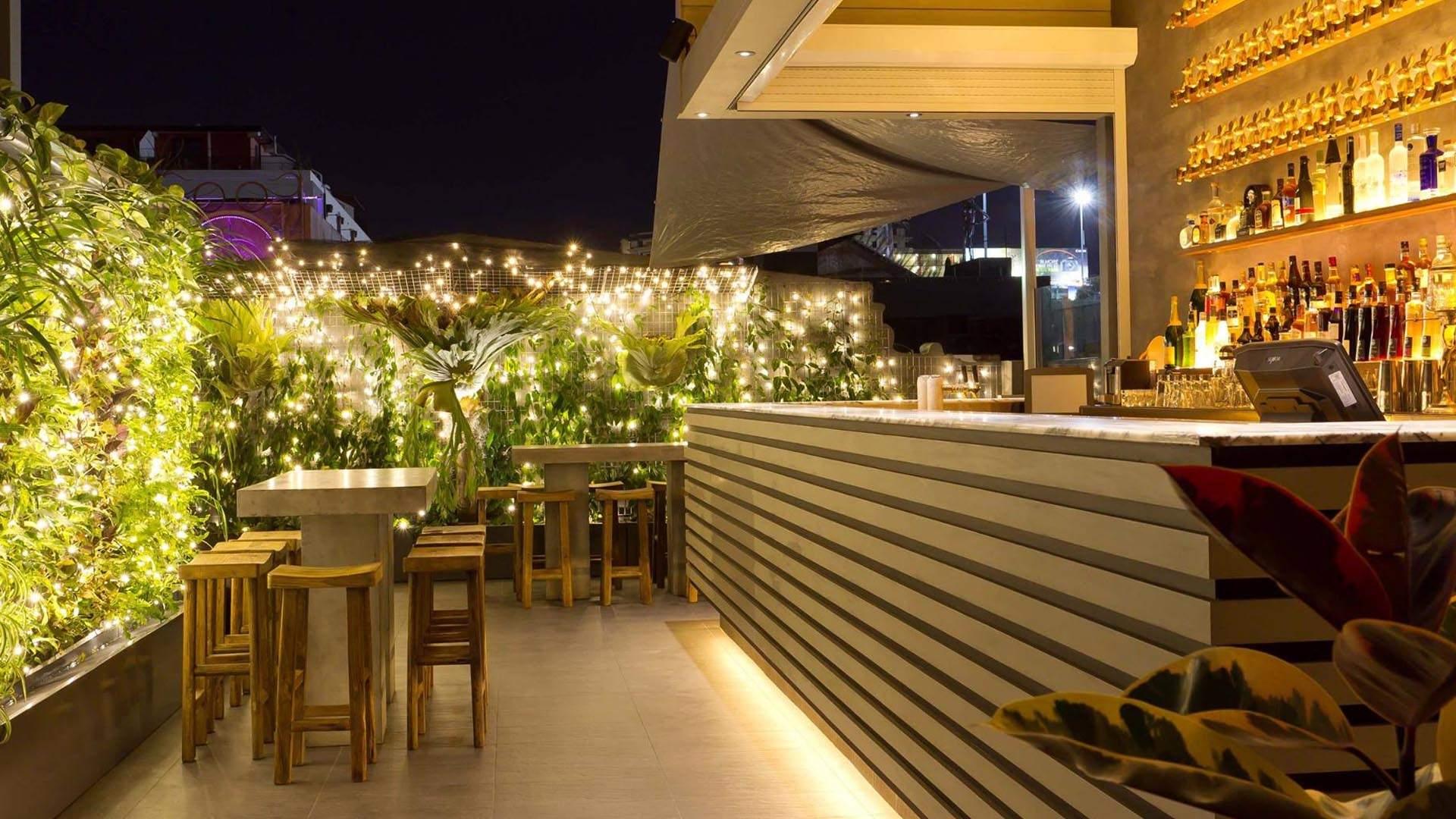 rooftop lighting. elixir rooftop bar rooftop lighting