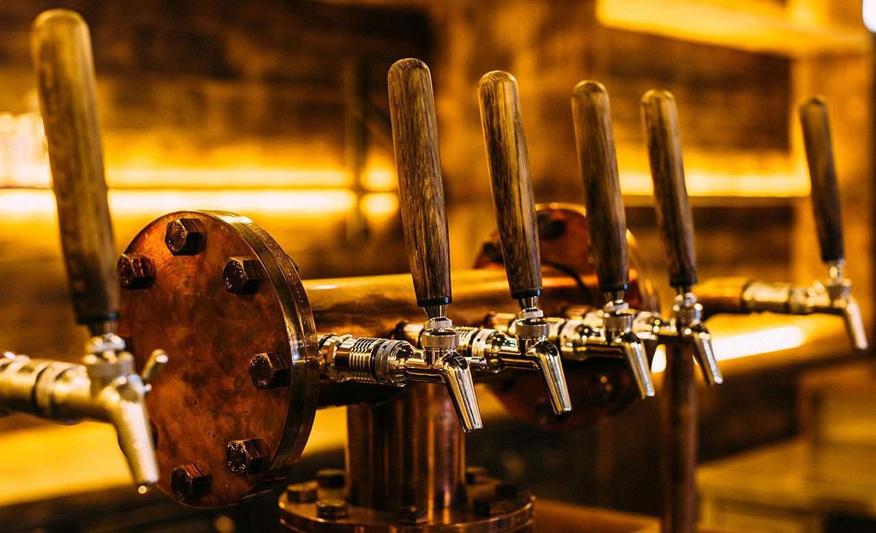 Archie Rose Distillery taps