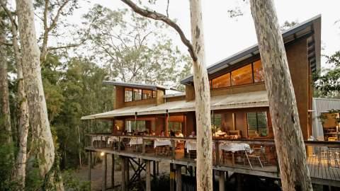 The Gunyah Restaurant at Paperbark Camp
