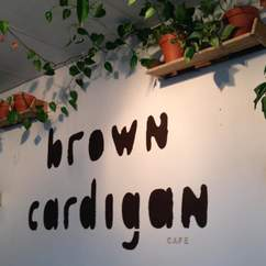 Brown Cardigan Cafe