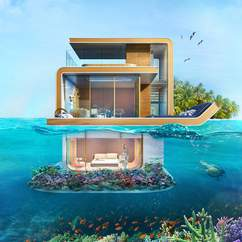 These Partially Underwater Dubai Villas Let You Literally Sleep with the Fishes
