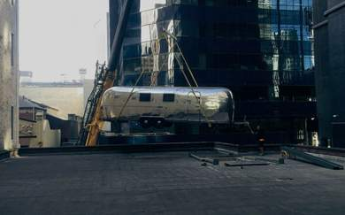 This Melbourne Rooftop Is Getting a Vintage Airstream Hotel