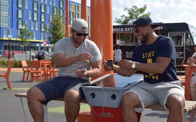 You Can Now Recharge Your Phone Using These NYC Park Benches