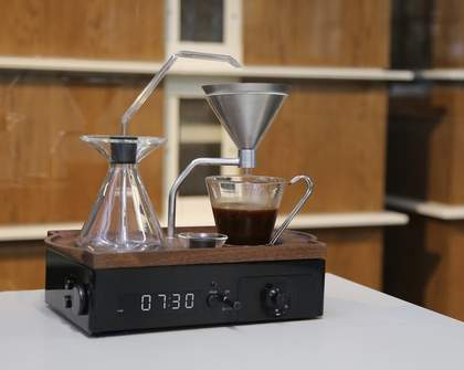 This Alarm Clock Wakes You Up by Brewing a Cup of Coffee