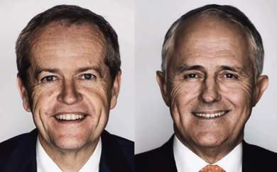 These Giant Portraits of Federal Politicians Have Popped Up in Sydney and Melbourne