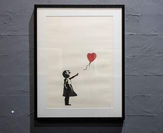 Banksy's Iconic 'Girl with Balloon' Artwork Self-Destructs Moments After Being Sold