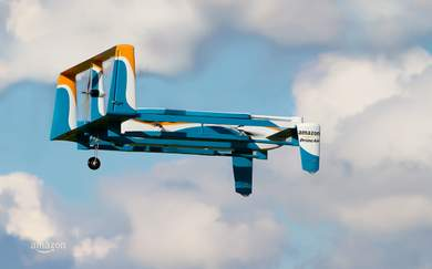 Amazon Wants To Build Flying Warehouses to Deploy Drone Deliveries