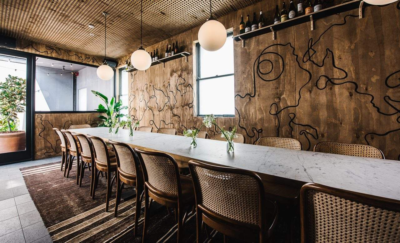 sydney restaurants and bars with private dining rooms - concrete
