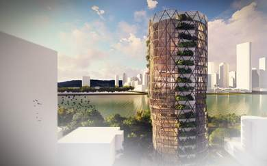 Brisbane's Ambitious Leaning Tower Features Seasonal Vertical Gardens