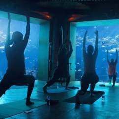 This Dubai Hotel Is Running 'Underwater' Yoga Classes