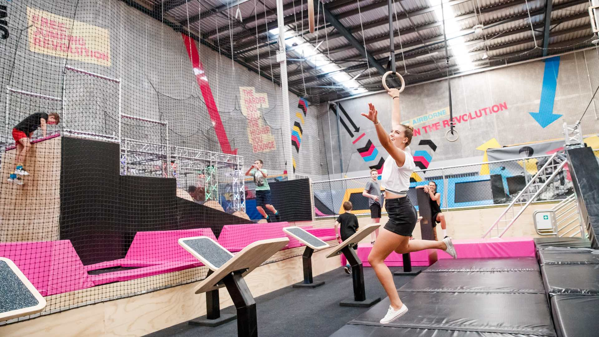 A Jumping Free-For-All at BOUNCE Trampoline Park