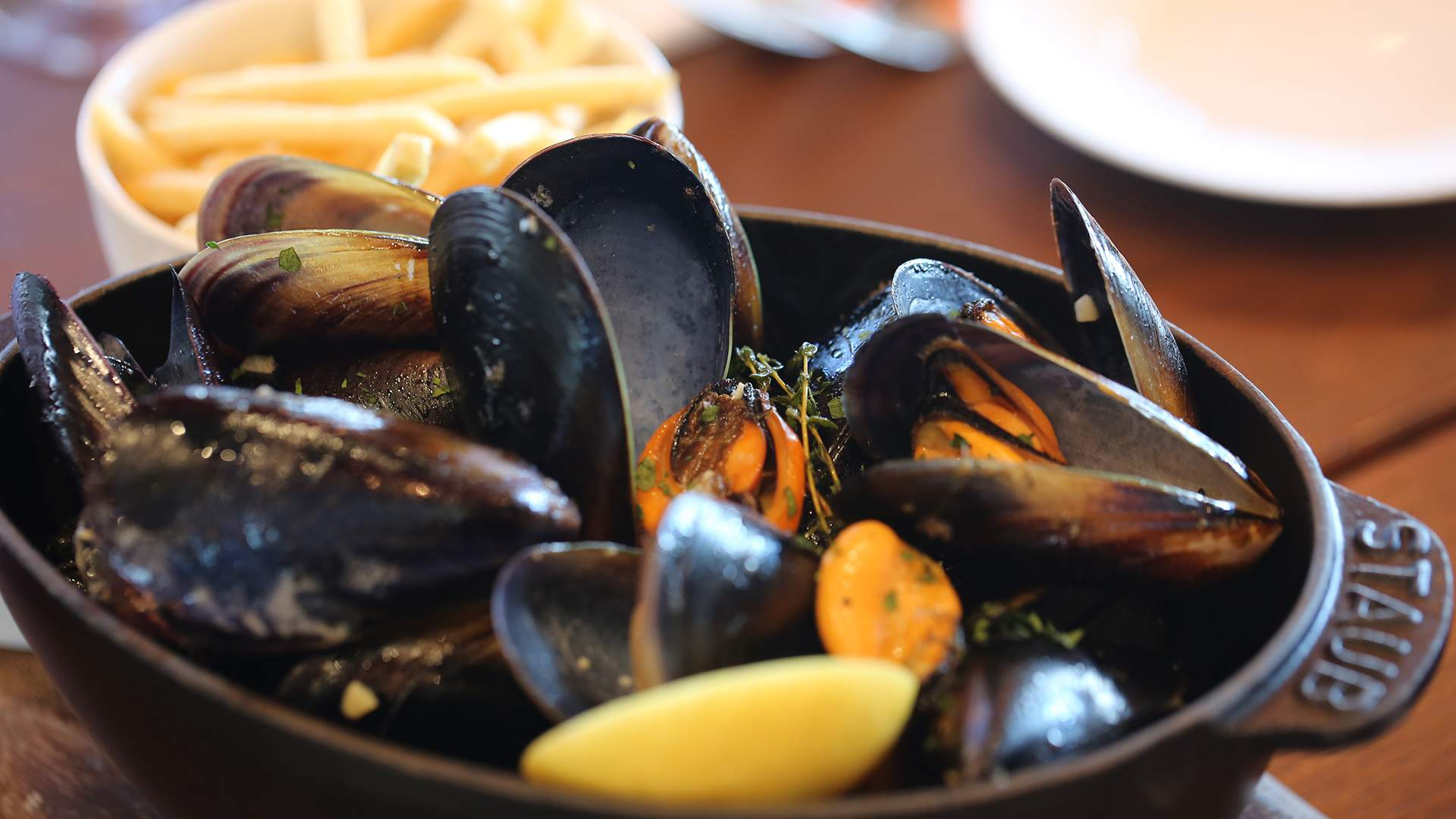 Unlimited Mussels and Frites Mondays