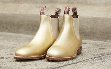 R.M. Williams Has Released a Pair of Gold Metallic Boots