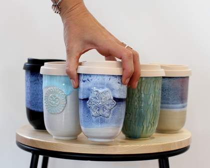 This Queensland Couple Makes Customisable Ceramic Keep Cups
