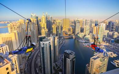 The World's Longest Urban Zipline Will Zoom You Across Dubai's Skyline
