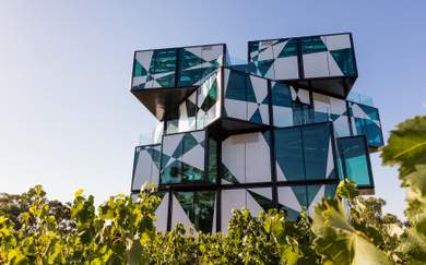 A Look Inside Australia's New Five-Storey Cube-Shaped Winery, Restaurant and Cellar Door