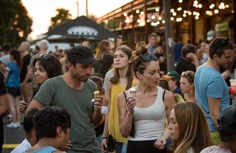 The South Melbourne Night Market 2018
