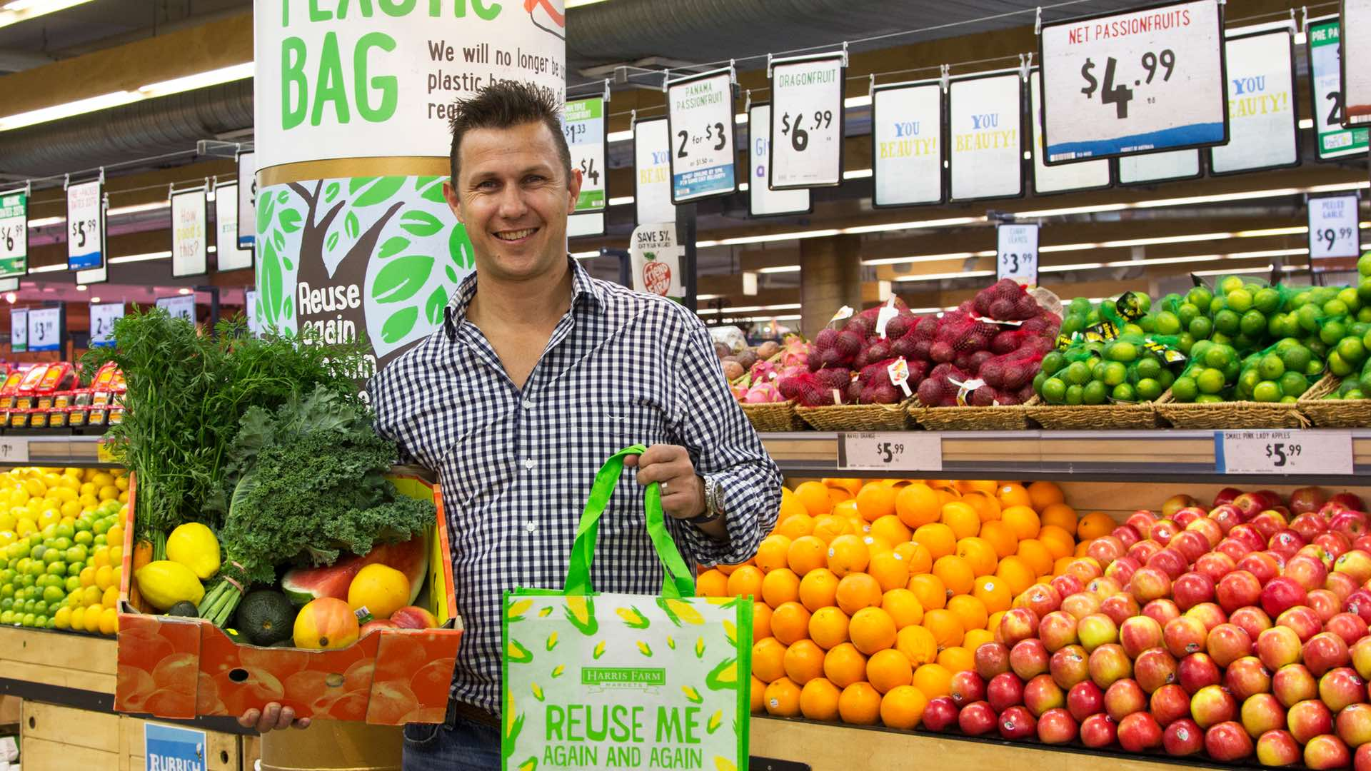 NSW's Harris Farm Markets No Longer Stocks Plastic Bags at the Checkout