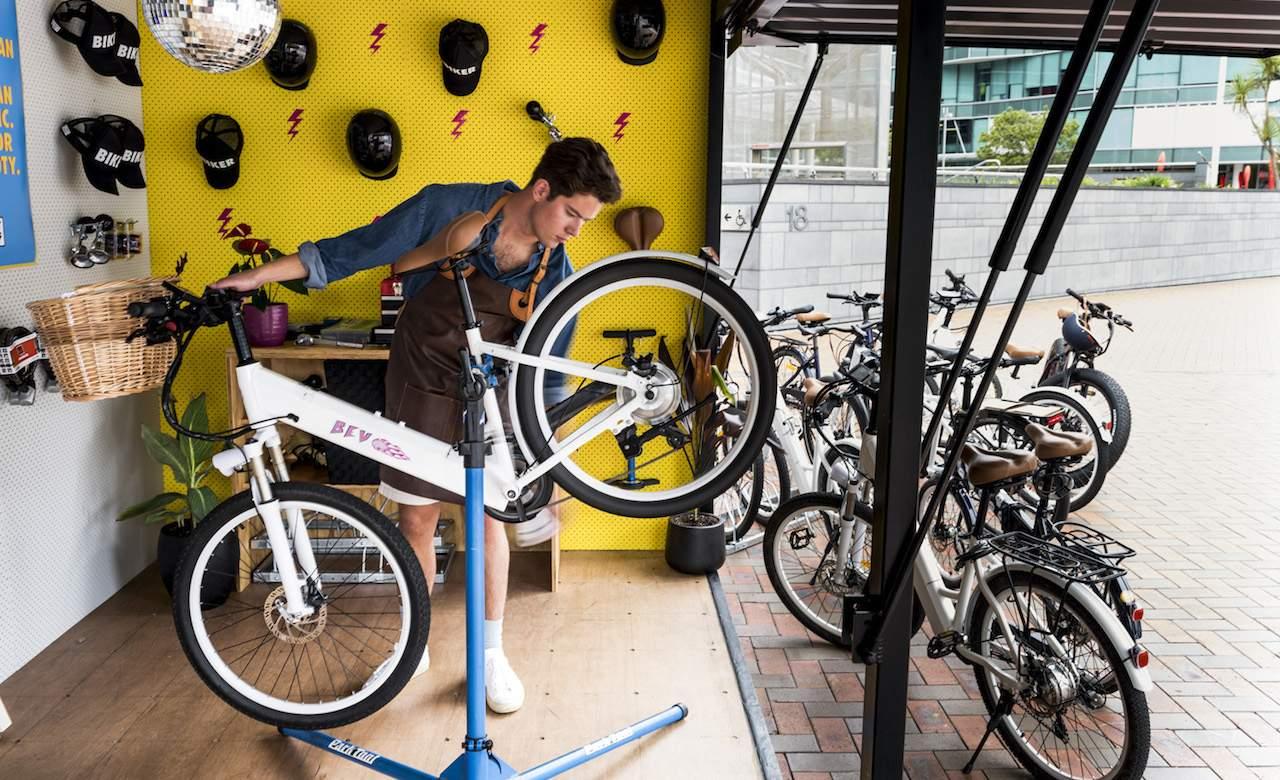 Meet Auckland's New Solar-Powered E-Bike Charging Workshop and Community Hub