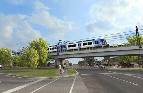 A New Elevated Train Line and Station Will Open in Melbourne This Week