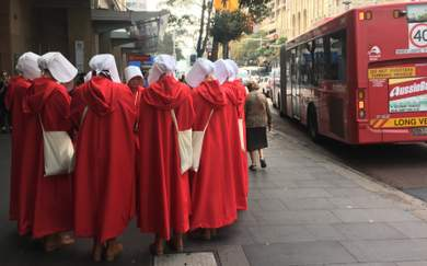 A Group of Handmaids Are Freaking Out Sydneysiders to Promote 'The Handmaid's Tale' Season Two
