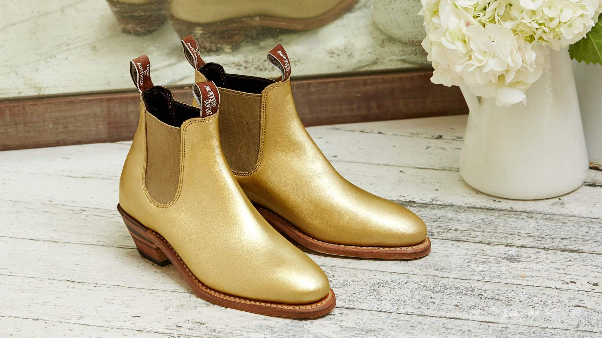 R.M. Williams Is Releasing a Second Run of Its Gold Metallic Boots