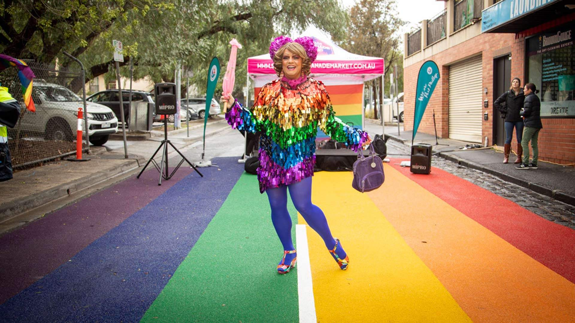 St Kilda Is Now Home to a Fabulous Rainbow Road