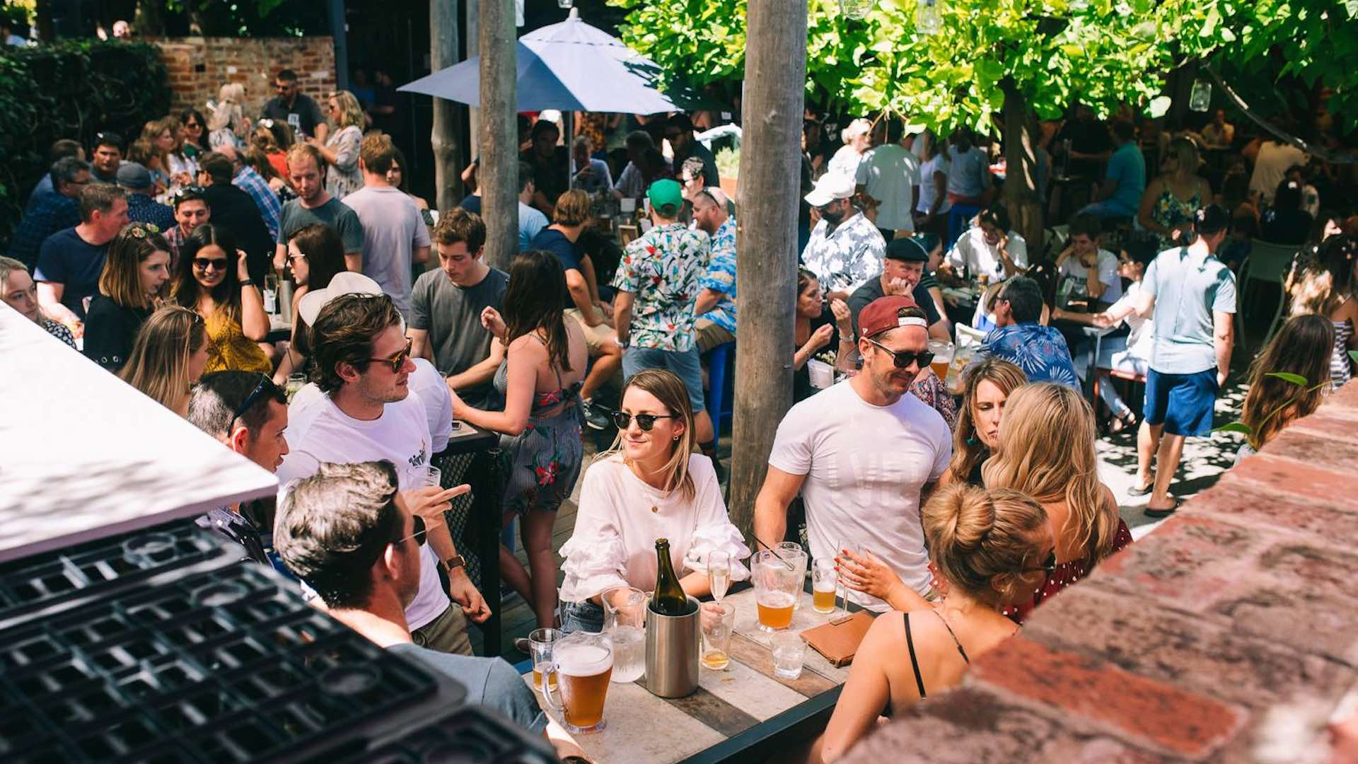 Beer garden at the Rosemount Hotel Perth