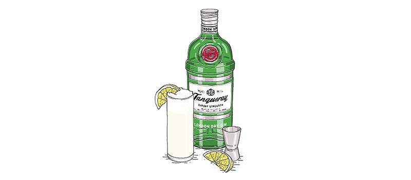 THE GIN FIZZ WITH TANQUERAY LONDON DRY