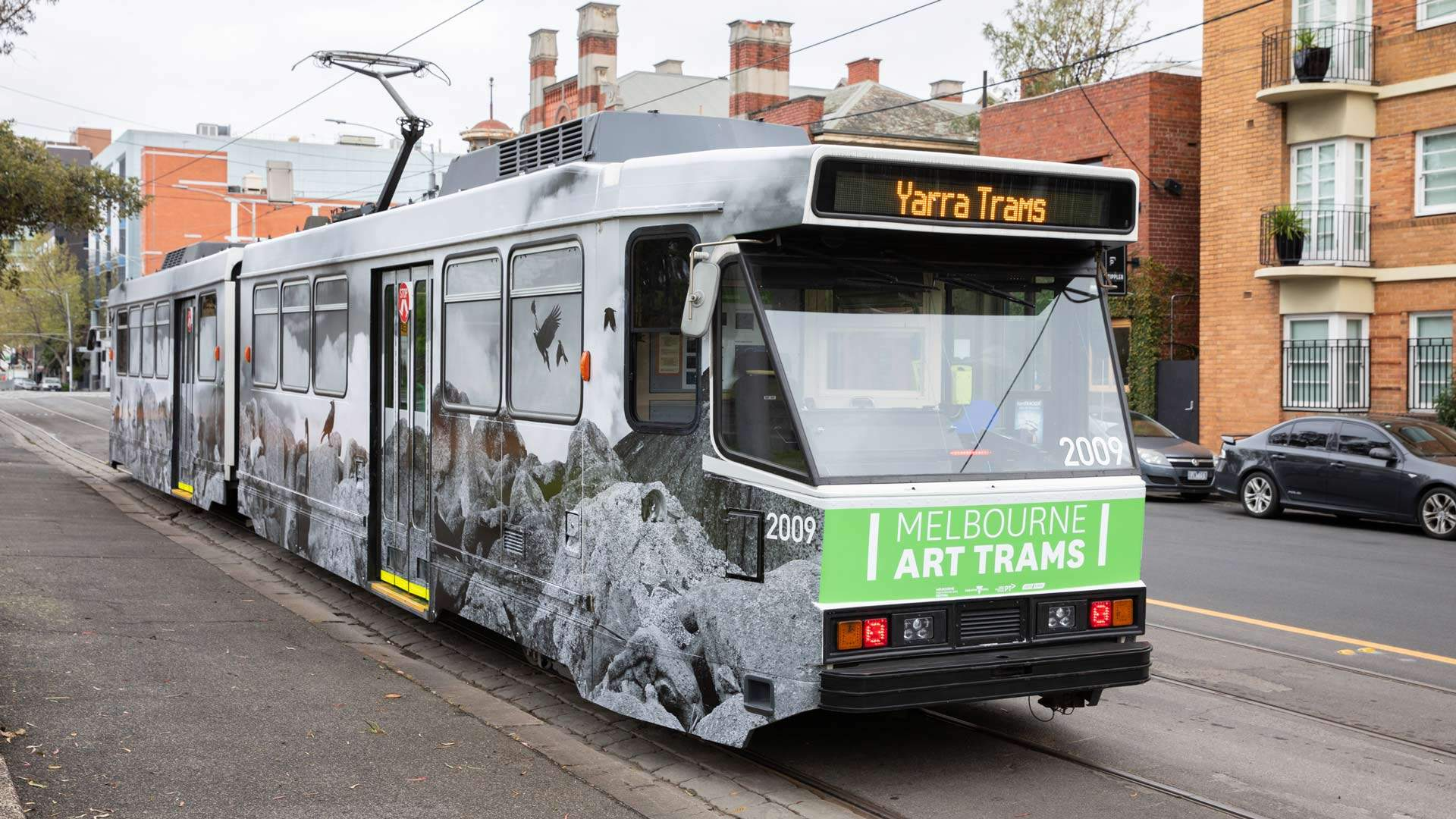 You Can Now Catch This Art-Covered Tram Through Melbourne's CBD