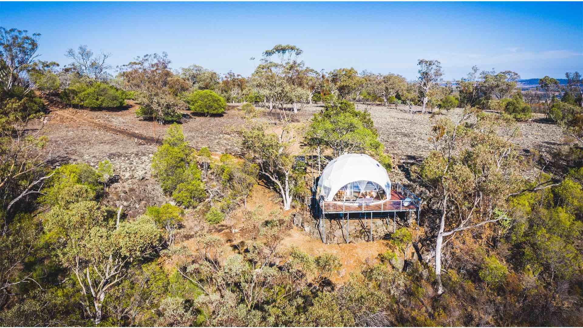You Can Now Escape to a Luxury Dome Tent in the Middle of the NSW Bush