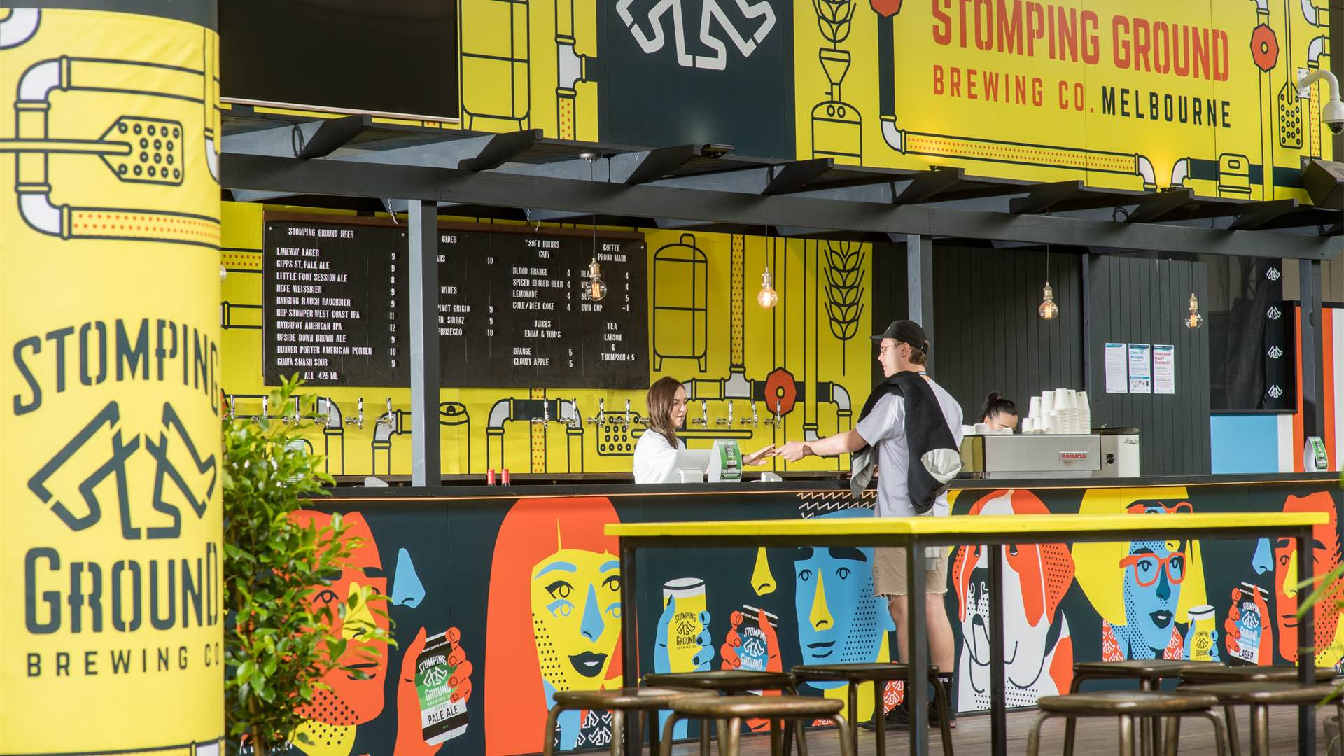Stomping Ground Has Opened a Pop-Up Beer Garden at Melbourne Airport