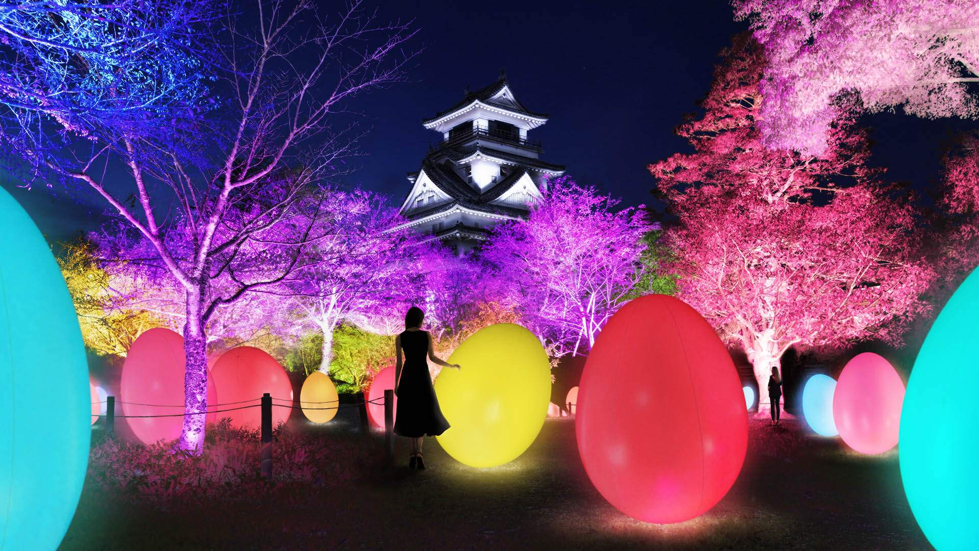 Japan's Latest Dazzling Interactive Art Exhibition Is Taking Over a 400-Year-Old Castle
