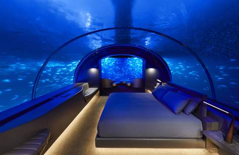 You Can Now Sleep Under the Sea at this Underwater Hotel in The Maldives