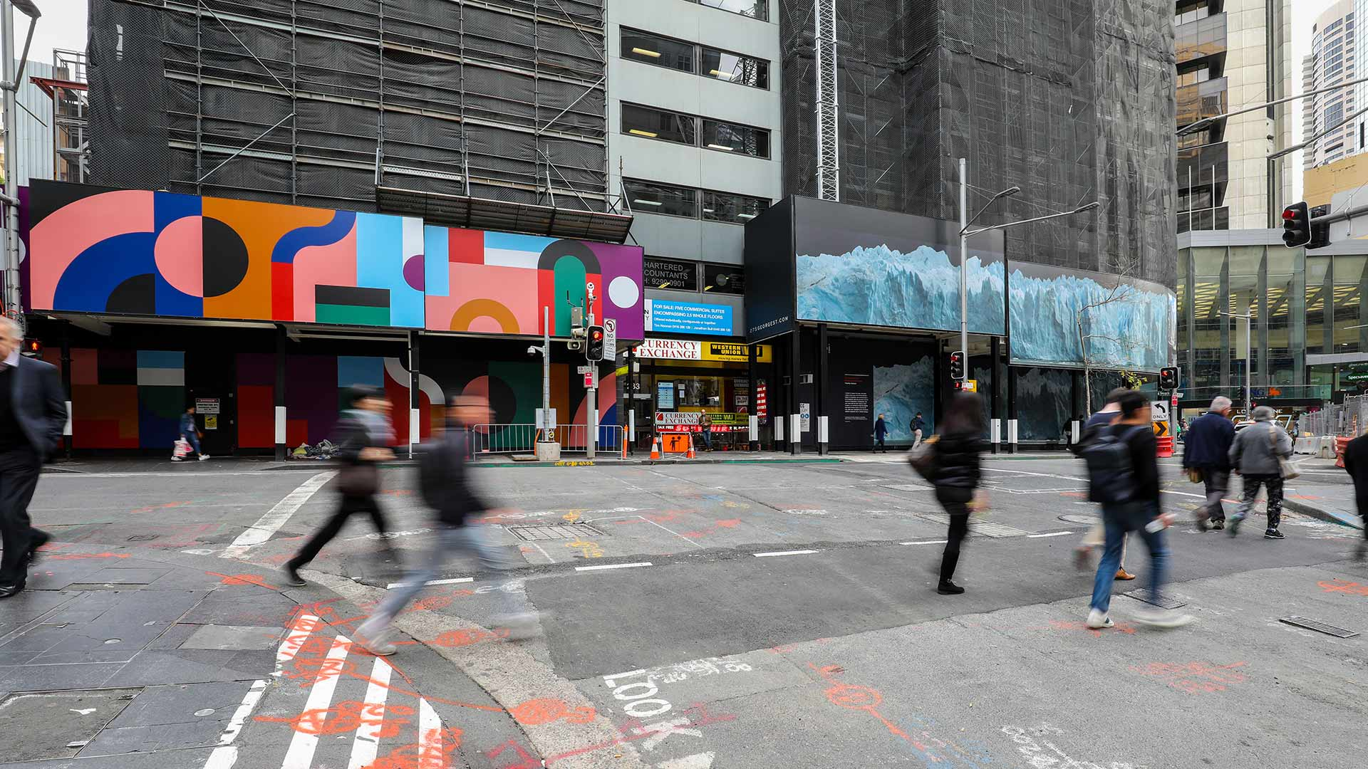 These Are the Artists Behind the Works Currently Decorating Sydney CBD Building Sites