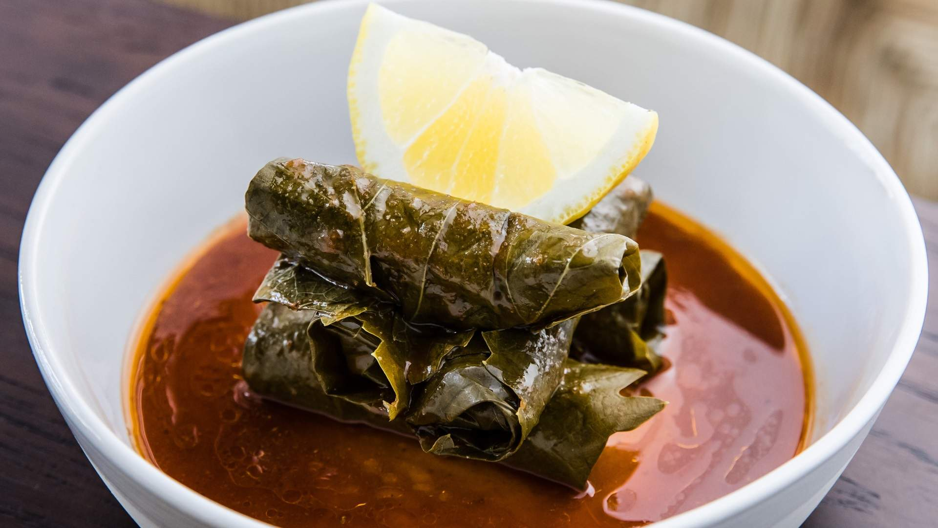 A POT OF DOLMADES