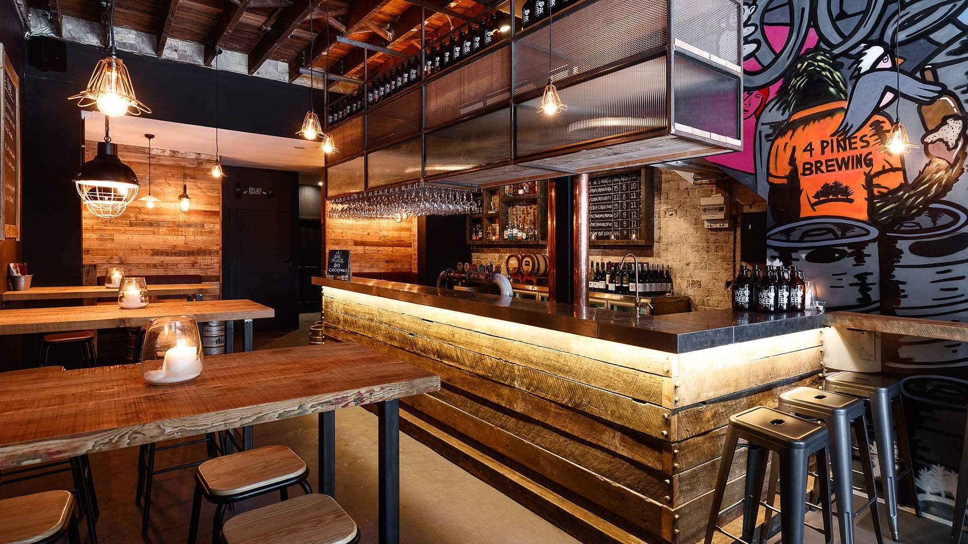 4 Pines Brewing Has Opened a Small Beer and Burger Joint in Surry Hills