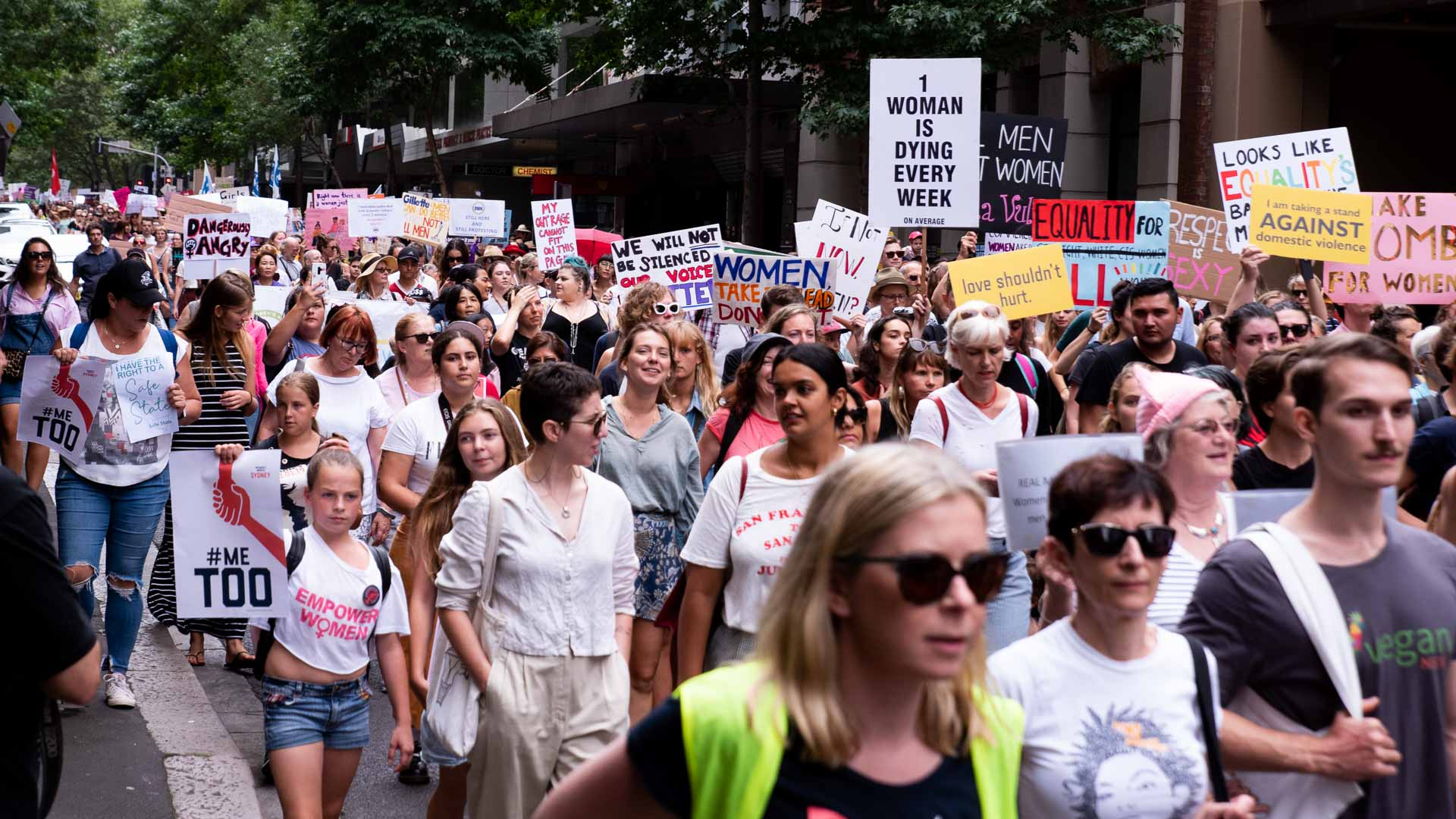 Gallery: Twenty Powerful Moments from Sydney's Huge 2019 #WomensWave March