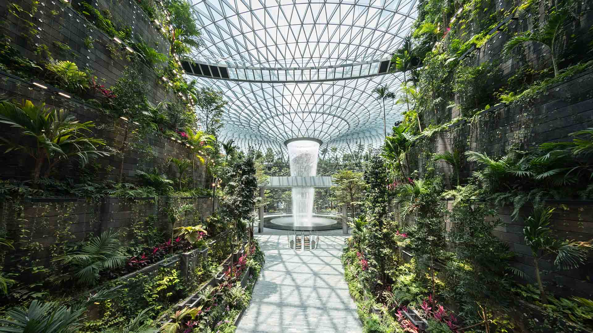The World's Tallest Indoor Waterfall Is Now Open Inside Singapore's Changi Airport