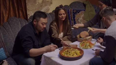 David Chang's New Netflix Show Sees Him Eating Around the World with Seth Rogen and Chrissy Teigen