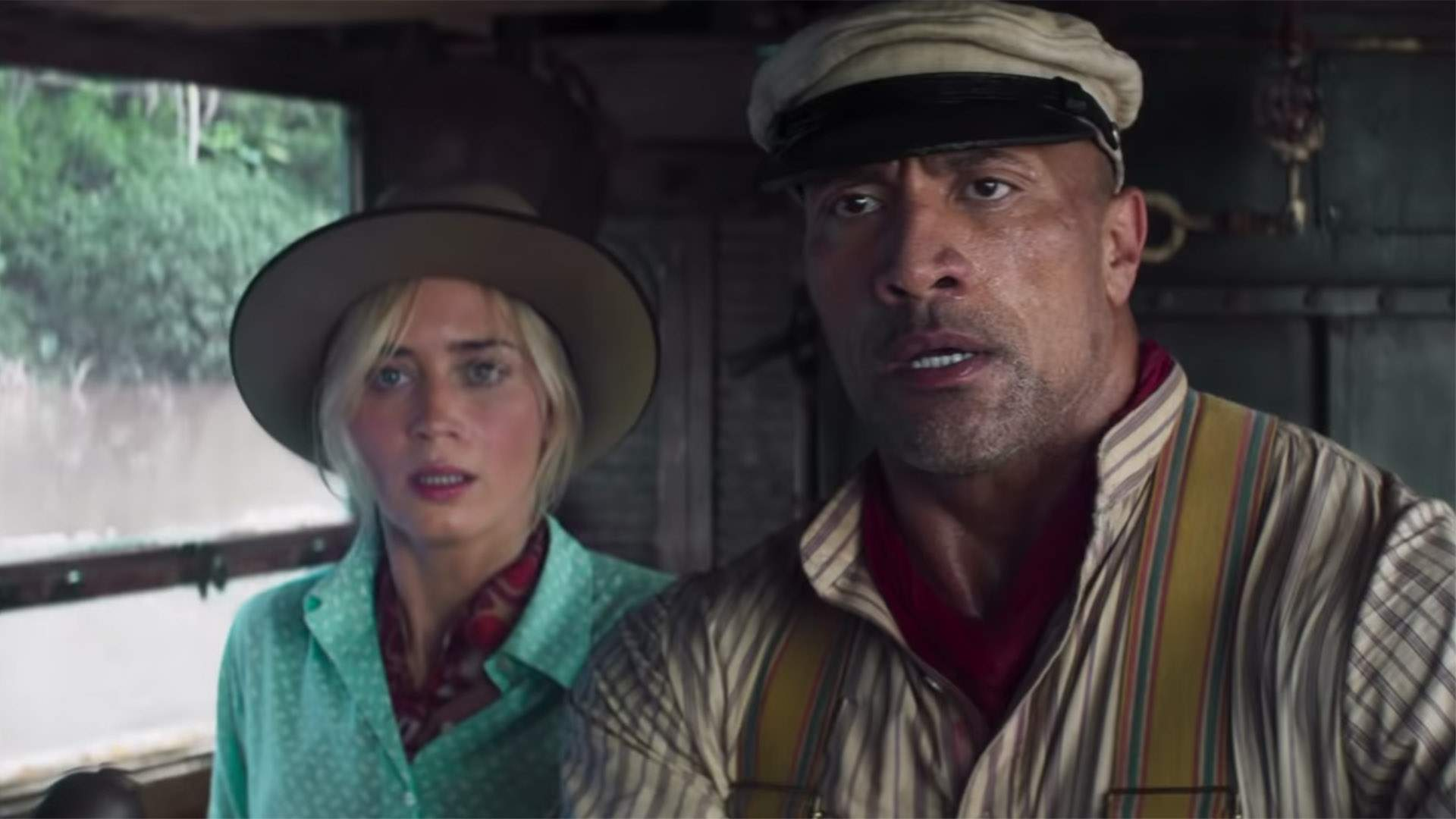 The First Trailer for 'Jungle Cruise' Takes Emily Blunt and Dwayne Johnson on a Wet and Wild Adventure