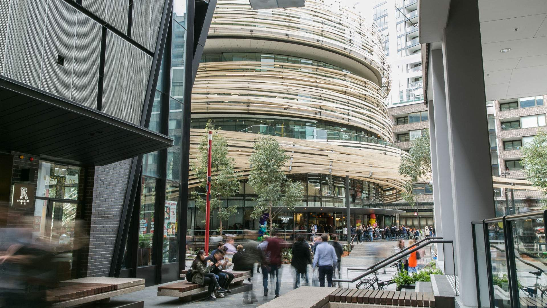 Sydney's Futuristic Two-Storey Darling Square Library Is Now Open