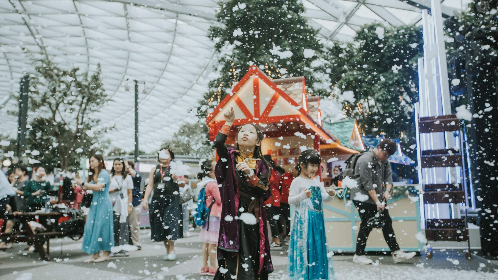A Snow-Filled Winter Wonderland Has Descended on Singapore's Changi Airport