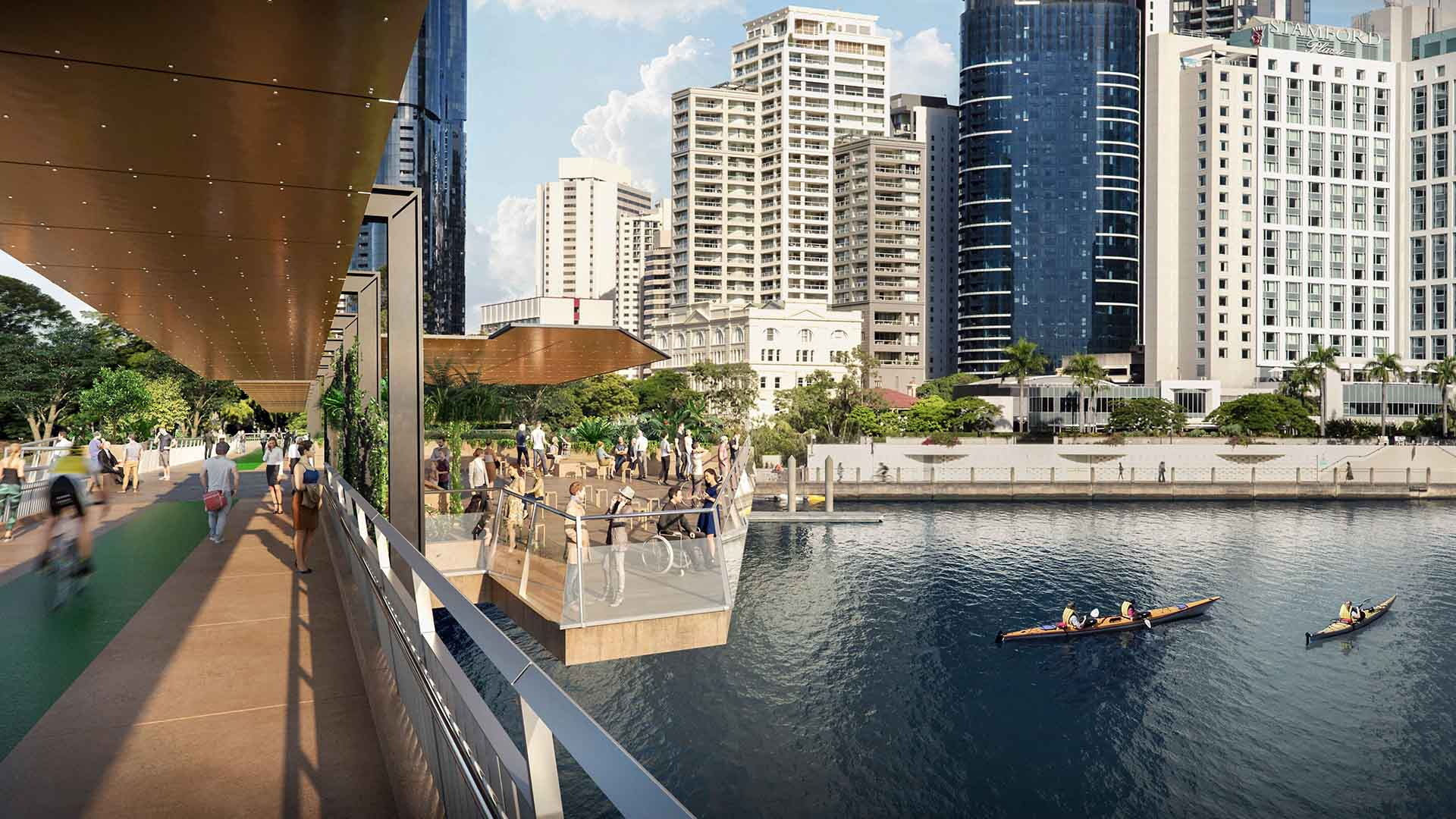 Brisbane Could Soon Be Home to Five New Car-Free Green Bridges Across the River