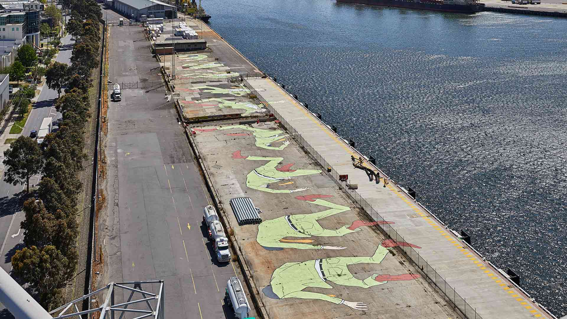 Port Melbourne Is Now Home to the Southern Hemisphere's Largest Mural