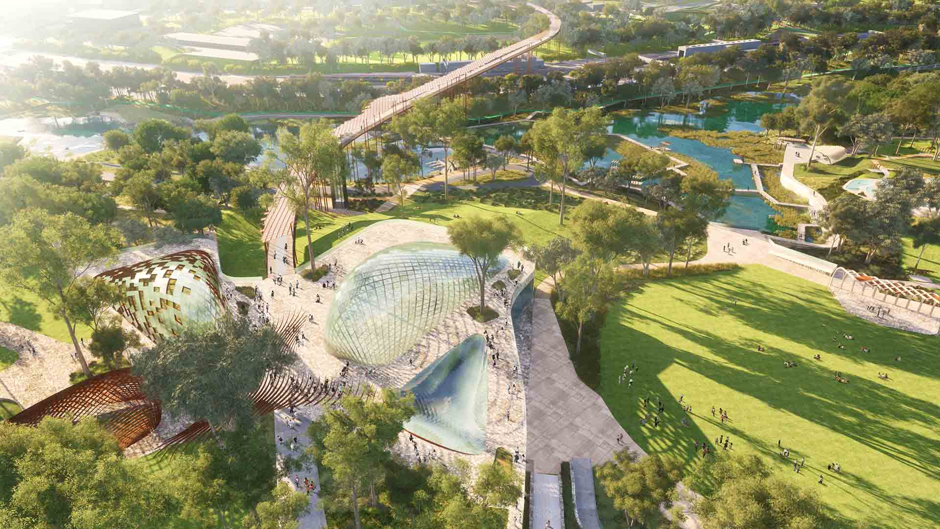 This Is What Brisbane's New 45-Hectare Inner-City Public Park Could Look Like