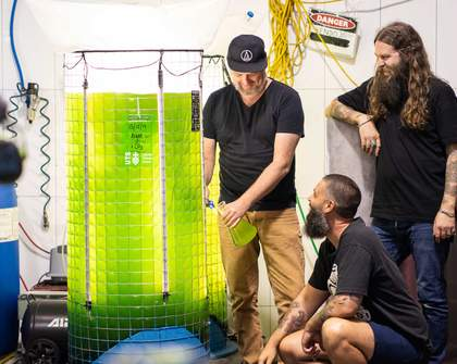Newtown Brewery Young Henrys Is Using a Glowing Vat of Algae to Help Combat Climate Change
