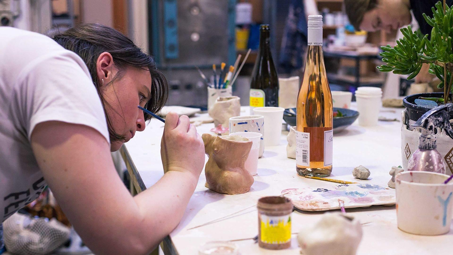 Wine and Cheese Ceramic Workshop